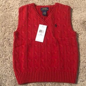 Brand new  red polo vest in time for fall